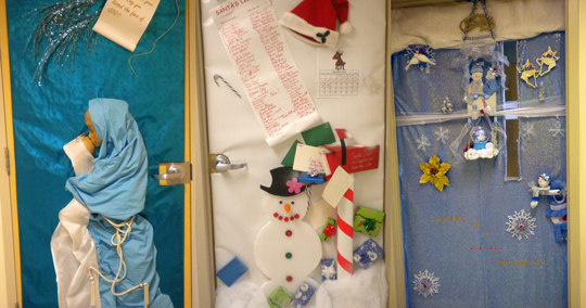 Christmas Door Decorations For Medical Office
