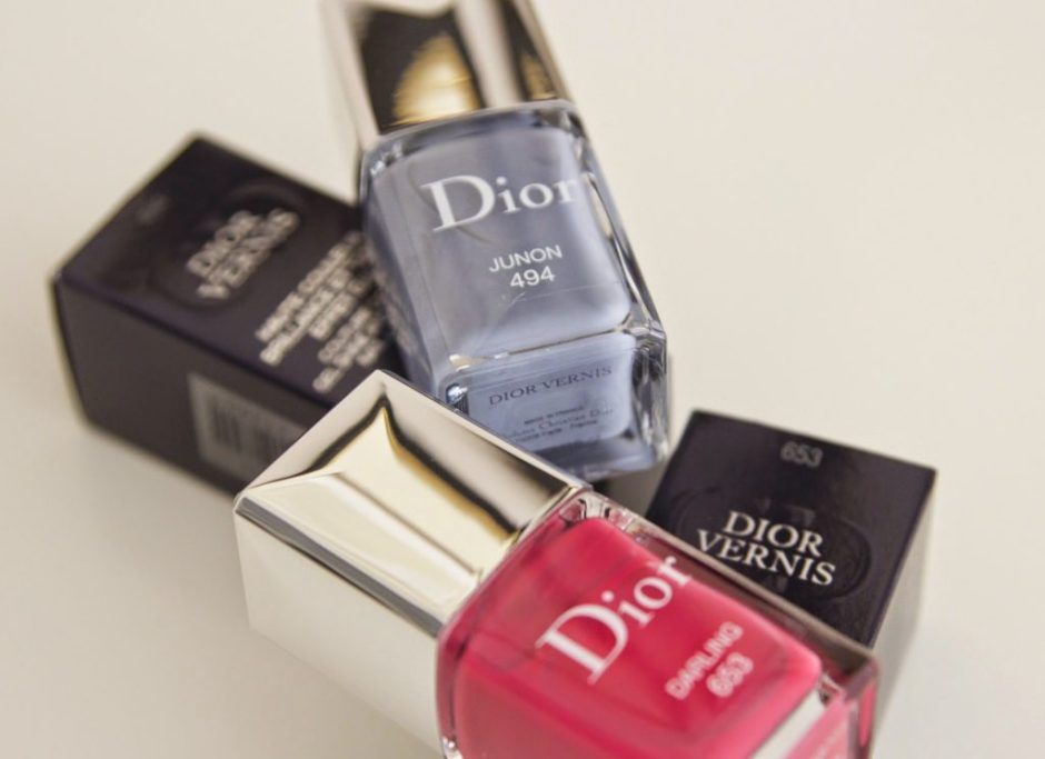 DIOR ADDICT BECOMING Darling 653 Juno 494 swatches nail polish nagellak vernis review