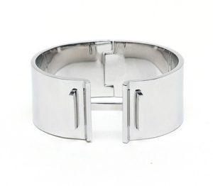 Brede zilveren Leer en zilver Mulberry bayswater small armband bracelets wishlist luxe zilveren armband unieke mooie