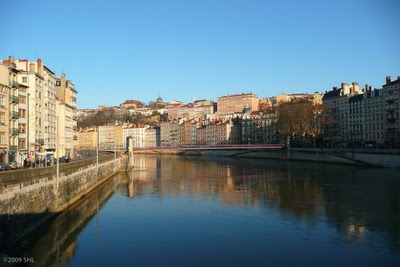 La Saône-one of two rivers in Lyon.