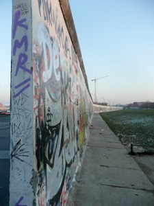Berlin wall at the east side gallery