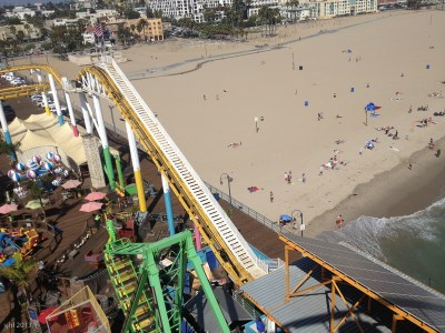 How freeky cool is that to have amusement park rides on a beach!
