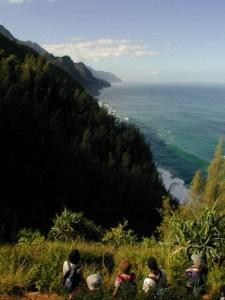 Hiking Na Pali trail.