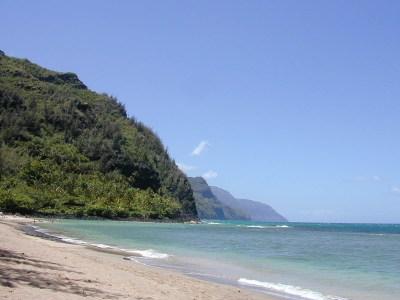 "Ke'e Beach at the ""end of the road."""