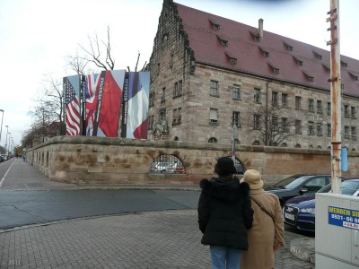 At the Nuremberg courthouse.