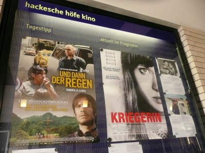 I decided to go see the one advertised on the right; it was really good (and all German as in the script, the actors, the production, language, etc.)