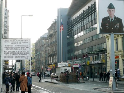 Just a short bike ride away was Checkpoint Charlie.