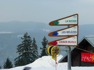 . . . through a ski area.