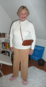 Even more fun. Here's Mom with her new birthday purse.