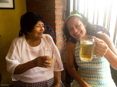 This beautiful 91-year old lady has lived in Puerta Vallarta for m a n y years. She knew of Marisela's family!