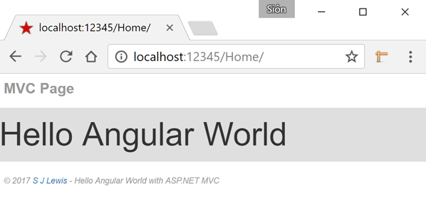 MVC Page Local IIS (Route 2)