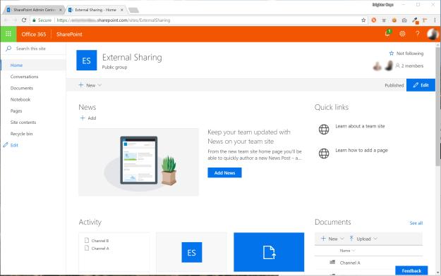 Microsoft Team Site