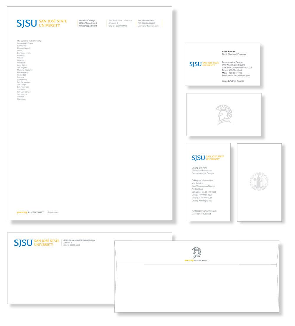 sjsu business stationery strategic
