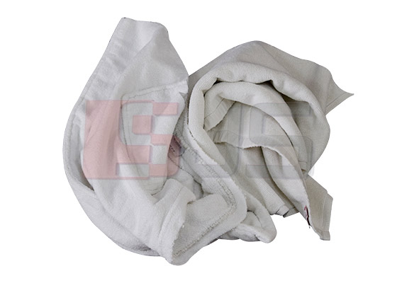 White mixed towel cotton rags   White Towel Rags   Taicang Daorong Knitting Co.,Ltd.