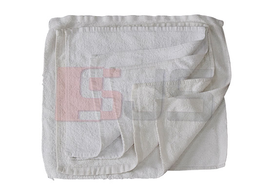 Sewing white little square towel cotton rags   White Towel Rags   Taicang Daorong Knitting Co.,Ltd.