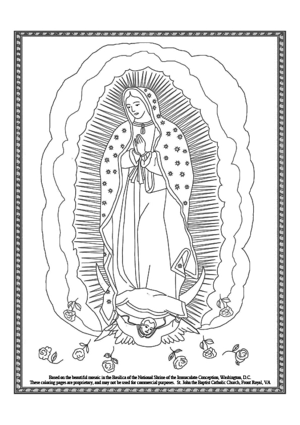 our lady of guadalupe coloring page # 16