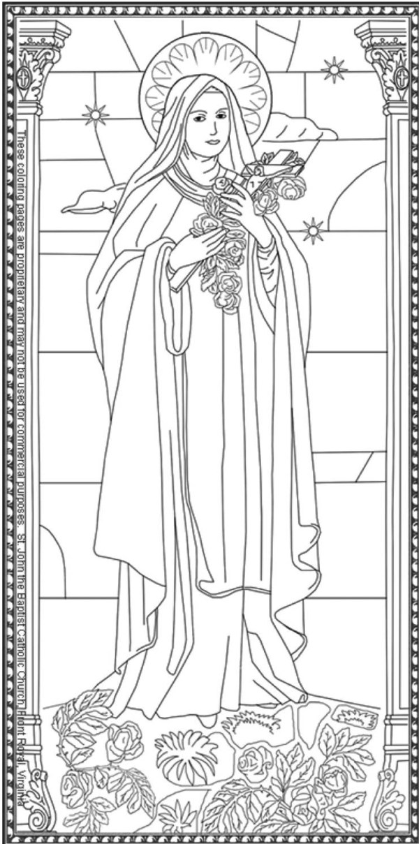 saint coloring pages # 6