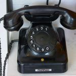 Rotary dial telephone, c. 1940s (Photo: Kornelia und Hartmut Häfele)