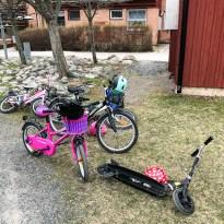 Småtjejernas cykelparkering