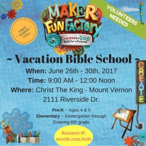 VBS Maker Fun Factory @ Christ the King Church ( Kings Kids) | Mount Vernon | Washington | United States