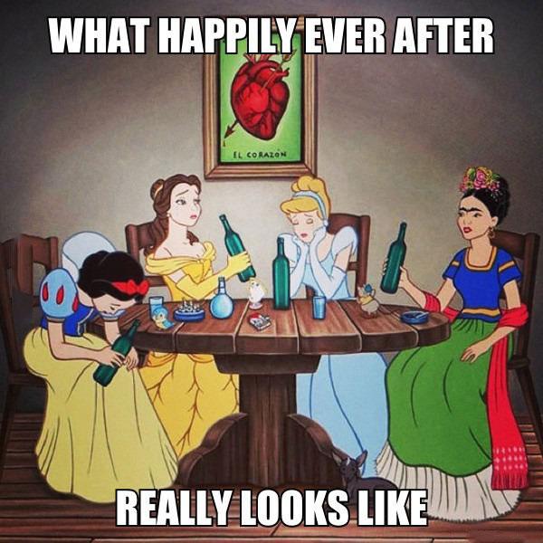 Og hun levede lykkeligt..?