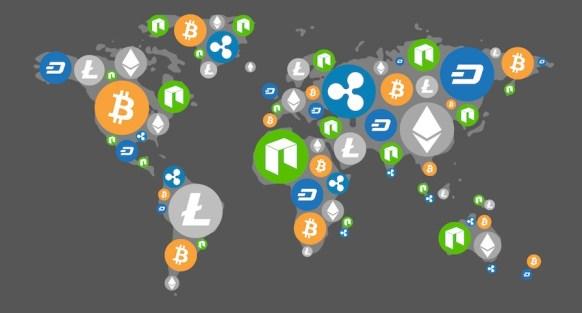 cryptocurrencies map