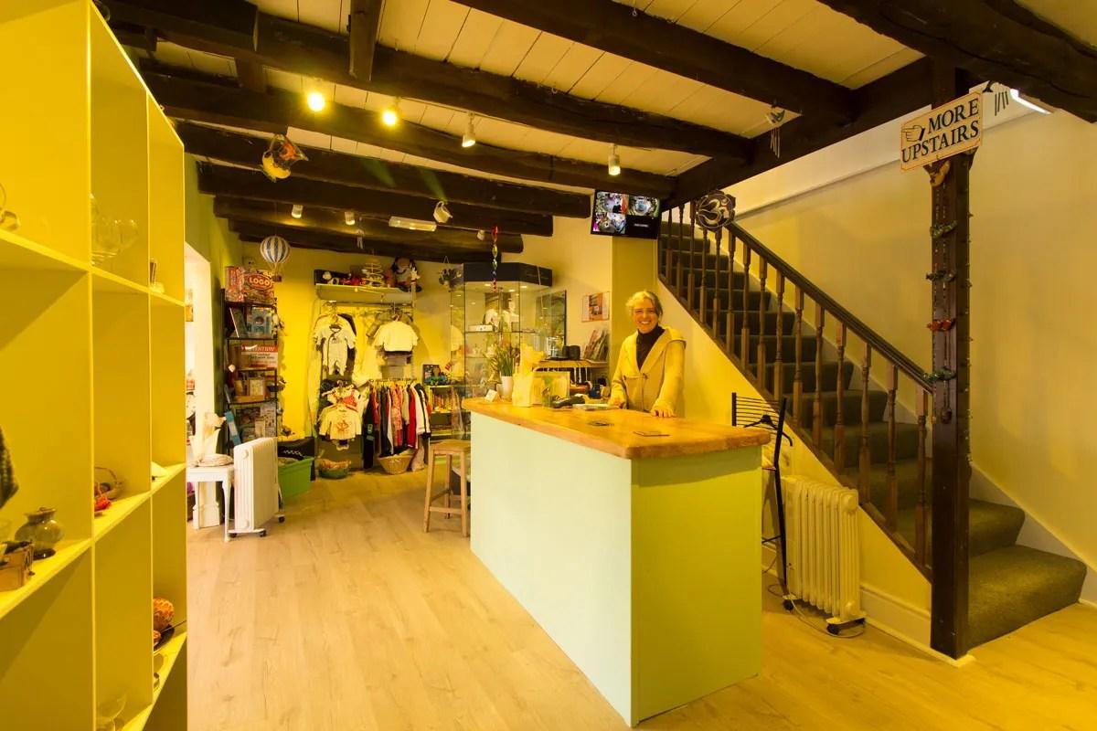 Inside our new Newcastle Emlyn charity shop