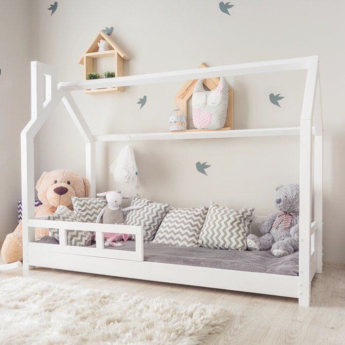 lit cabane lit enfant avec barriere couleurs bell