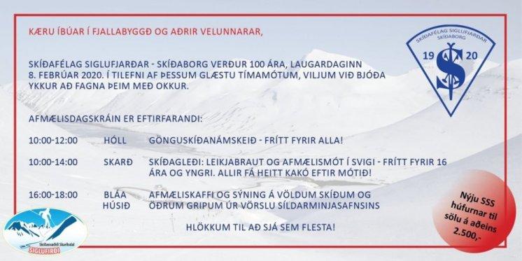 100 ára afmæli Skíðafélags Siglufjarðar Skíðaborg