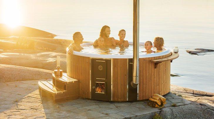 bain nordique haut de gamme hot tub