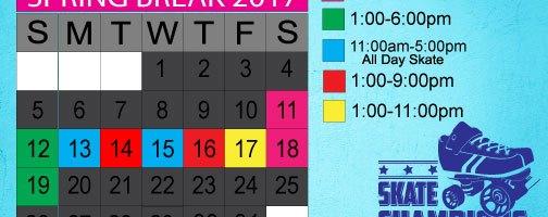 Skate Spring Break Mar 13th-17th