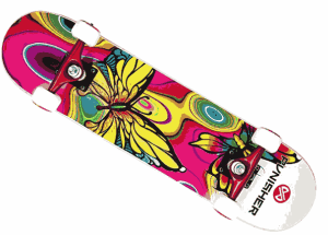 Punisher Skateboards Butterfly Jive Complete- good skateboards for beginners
