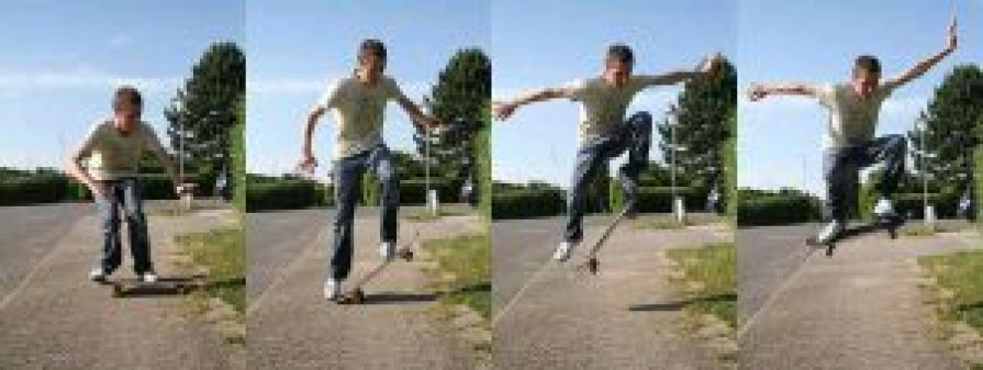Ollie-skateshouse_skateboard tricks for beginners