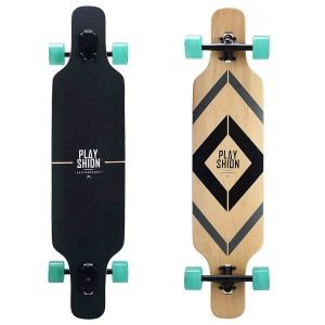 Playshion Freeride Freestyle Drop Through Longboard Skateboard Complete 39 Inch_Best Longboards