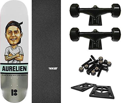 "Plan B Skateboards Aurelien Giraud MVP Skateboard Deck - 8"" x 31.75"" with Components - Bundle of 6 Items"