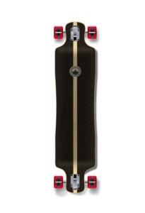 Yocaher Complete Lowrider Skateboards Longboard Cruiser Black Widow Premium
