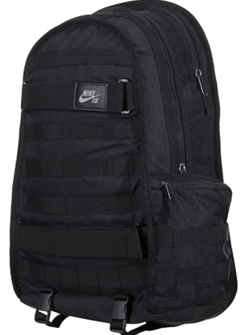 NIKE SB RPM BKPK - SOLID BA5403-010 has Skateboard-carrying straps , Interior sleeve stores up to a 15-inch laptop, Water-resistant fabric helps protect your gear and many other features.