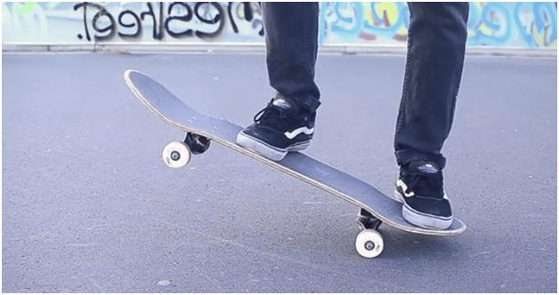 Kick turn skateboard is a trick to ride a skateboard.