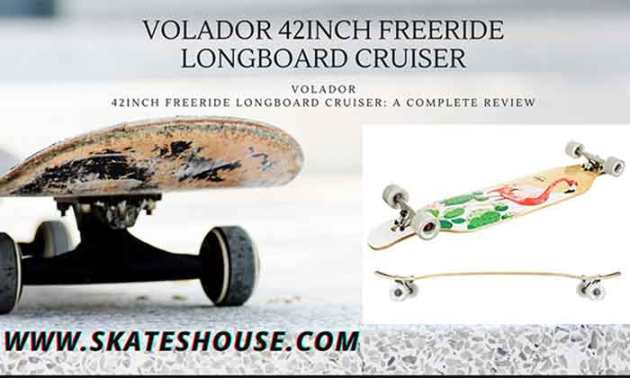 Volador 42inch freeride longboard cruiser is a very good quality longboard for beginners.
