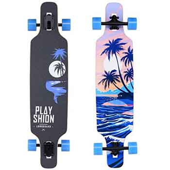 Playshion 39 inch drop through longboard an on budget longboard on the market with it's dashing design.