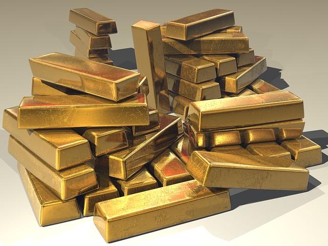 stapel Goldbarren