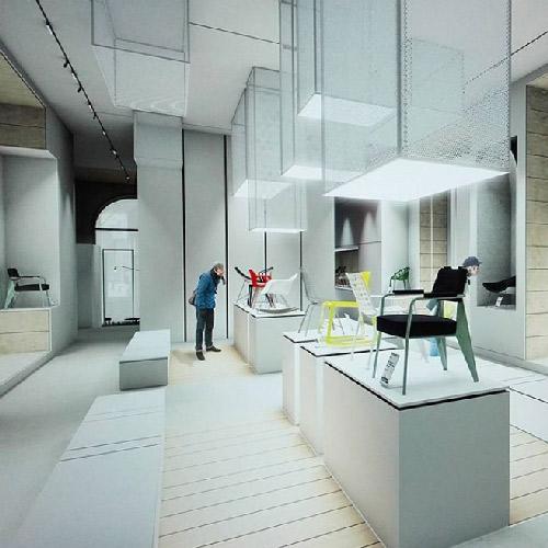 Vue d'un projet d'architecture d'intérieur d'un étudiant de l'école Edaic à Lyon Villeurbanne.