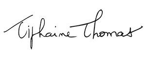 Signature manuscrite de Tiphaine Thomas, architecte d'intérieur et décoratrice.