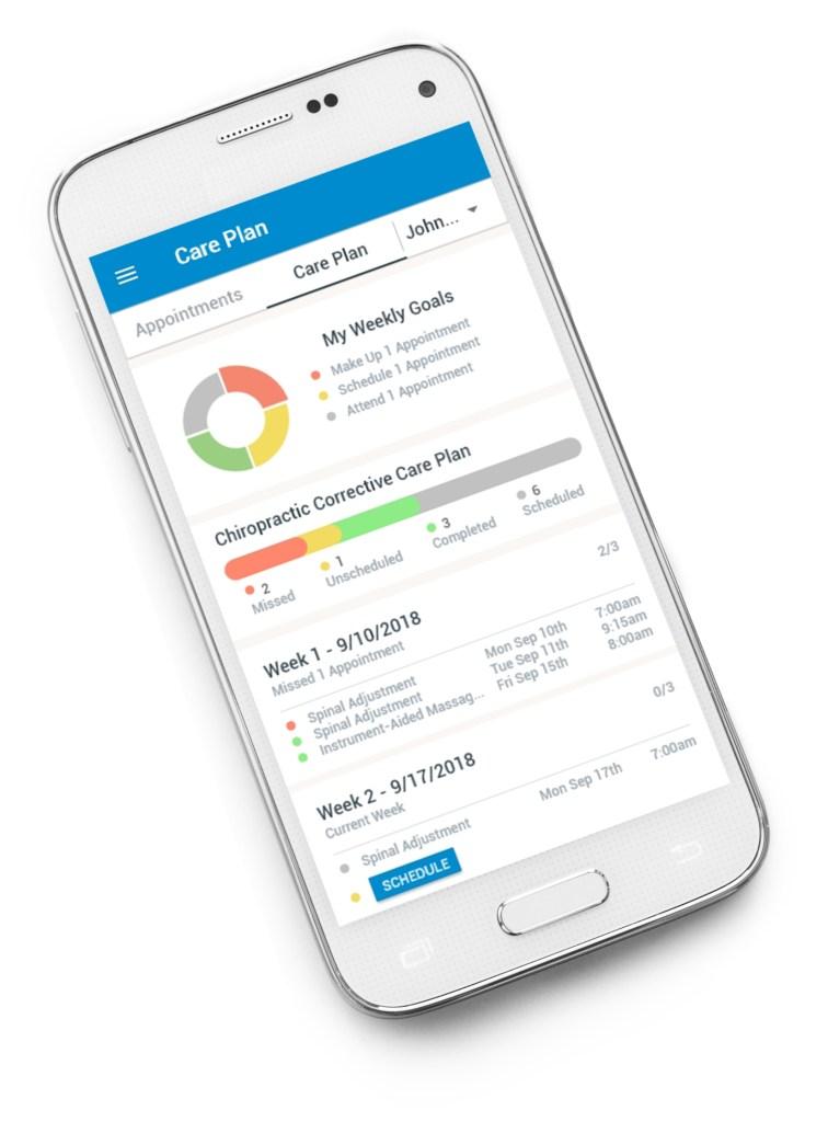 chiropractic care plan app