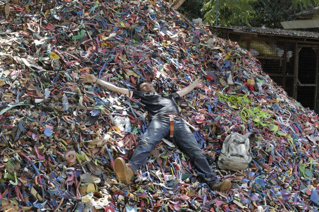 Joao Parrinha in the flip flop mountain
