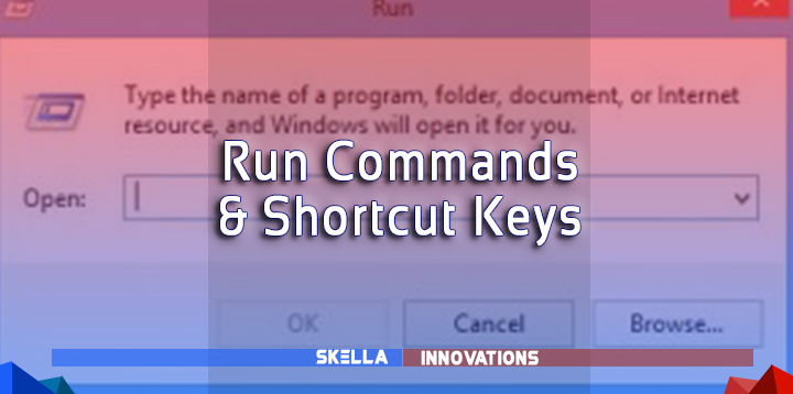 Learn Some of the Keyboard Shortcut Keys and Run Commands in Windows