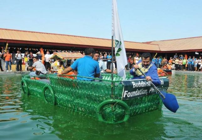 Plastic Bottle Rescue Boat