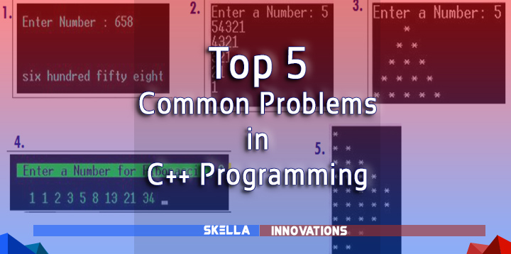 Top 5 Source Codes of the Common Exercises in C++