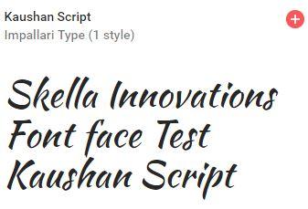 kaushan script google font