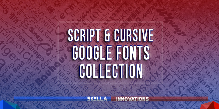 best cursive google fonts